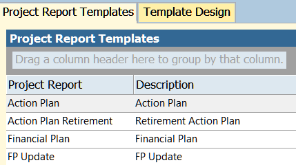 project report templates